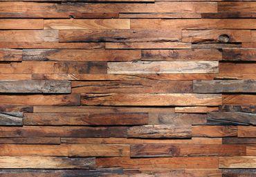 Fototapete Wooden Wall Wand Bild Dekoration Modern XXL Bahn No.WG_00150