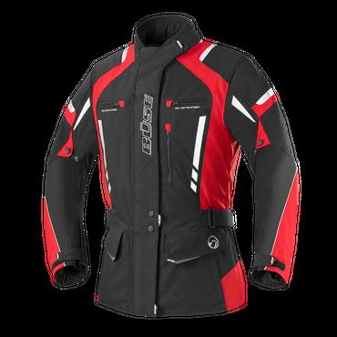 Büse Torino Pro Motorradjacke für Damen (schwarz / rot)