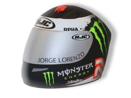 HJC Spardose Lorenzo Monster Energy - Miniatur Motorradhelm