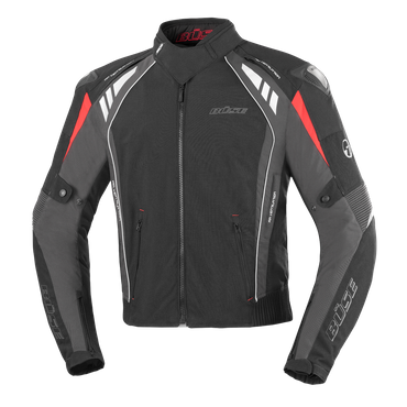 Büse B.Racing Pro Motorradjacke  für Herren (schwarz / anthrazit) – Bild 1