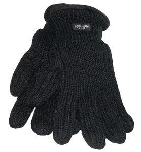 extra dicker Finger  Handschuh  in schwarz mit Thinsulate
