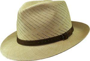Fein gelochter Panamahut in Bogartform – Bild 1