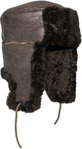 Echte Tschapka Lammfellmütze in Braun