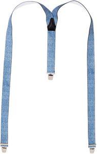 Hosenträger mit 3 Clips in 2 Jeans Farben