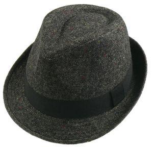 Trilby Hut in dunkelgrau mit schwarzem Band – Bild 1