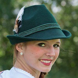 Trachten Damenhut mit Feder – Bild 2