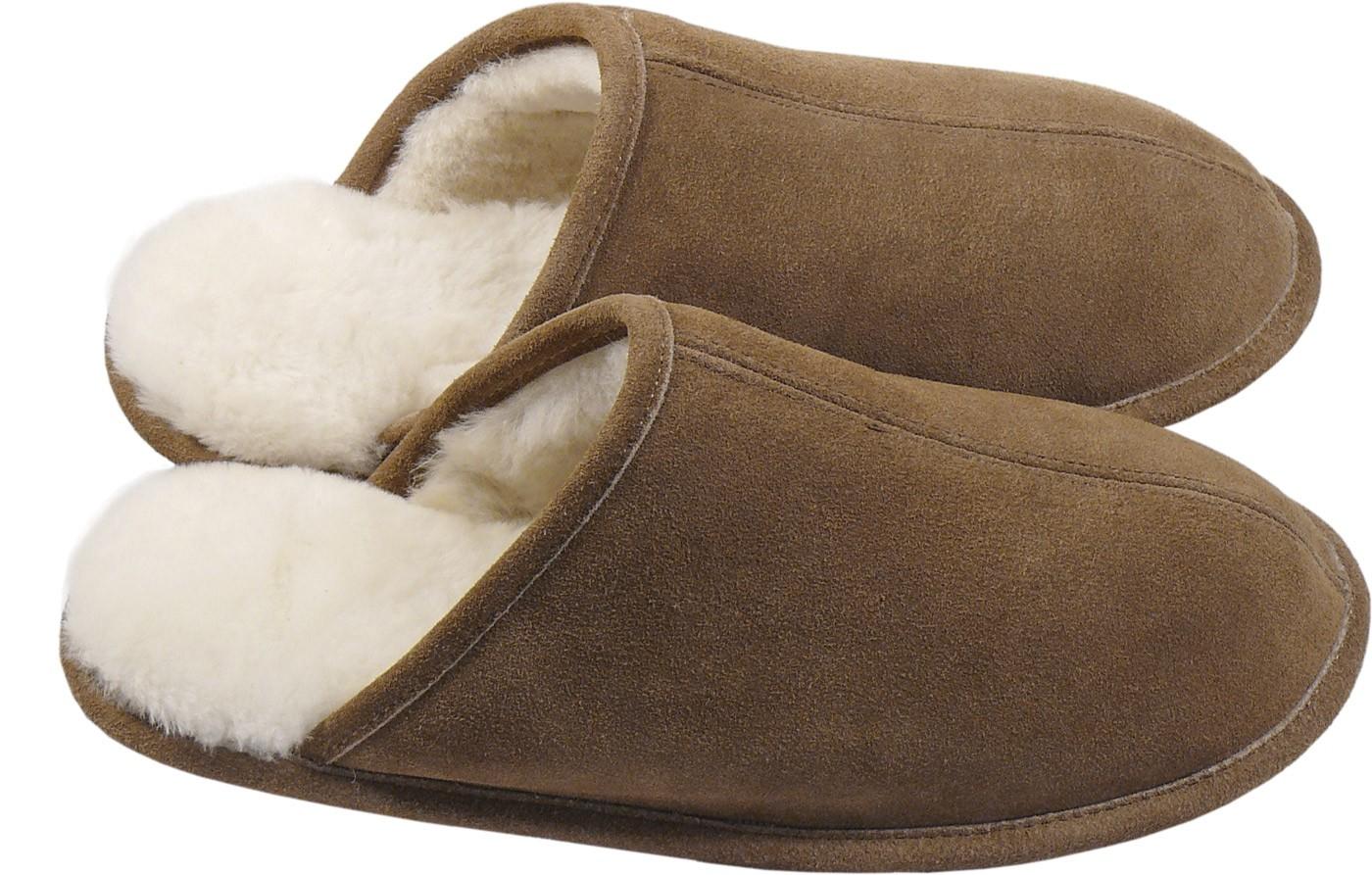 extra dicke pantoffeln aus lammfell mit ledersohle 2 farben fellartikel herren hausschuhe. Black Bedroom Furniture Sets. Home Design Ideas