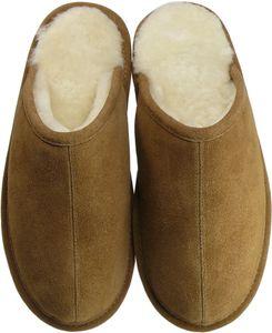 Extra dicke Pantoffeln aus Lammfell mit Ledersohle 2 Farben – Bild 7