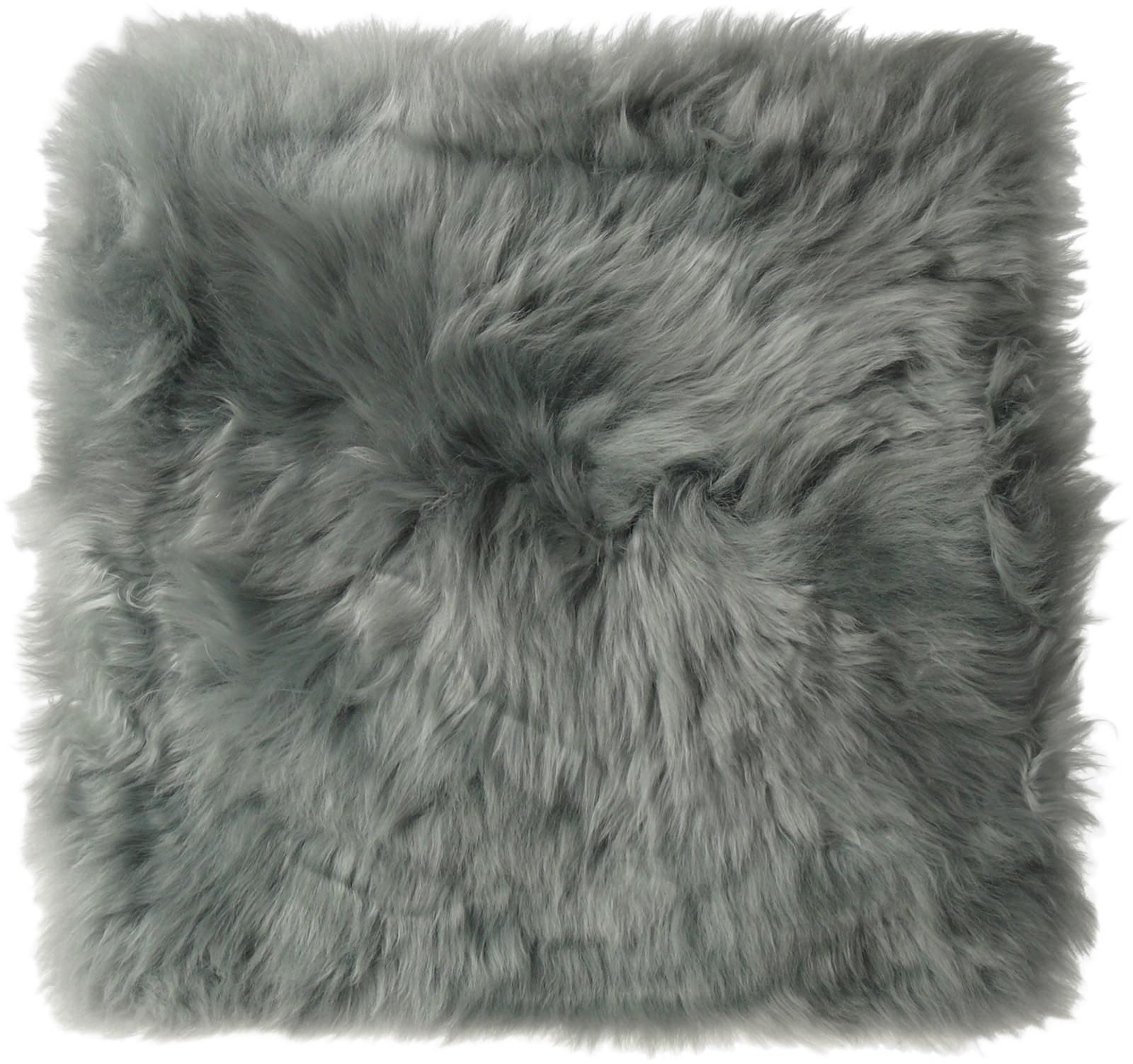 Sitzkissen-aus-bestem-Lammfell-hochwollig-Kissen-Stuhlauflage-Sitzunterlage