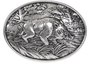 Buckle mit Wildschwein-Motiv