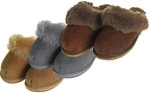 Extra dicke Lammfell Pantoffeln für Damen  – Bild 1