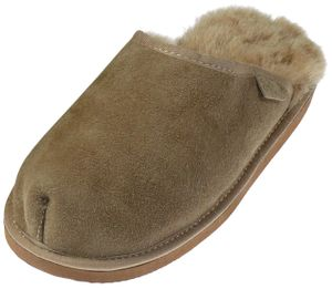 Extra dicke Lammfell Pantoffeln für Herren – Bild 2