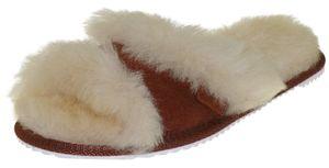 Peep Toe Pantoffeln für Damen aus bestem Lammfell – Bild 1