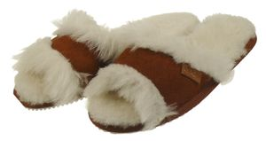 Peep Toe Pantoffeln für Damen aus bestem Lammfell – Bild 2