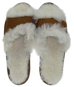 Peep Toe Pantoffeln für Damen aus bestem Lammfell – Bild 3