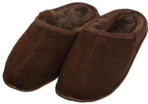 Extra dicke Lammfell Pantoffeln mit Ledersohle für Damen und Herren – Bild 4