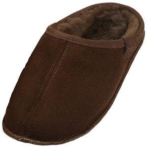 Extra dicke Lammfell Pantoffeln mit Ledersohle für Damen und Herren – Bild 3