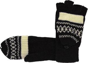 Handschuhe mit Klappe und Norwegermuster – Bild 2