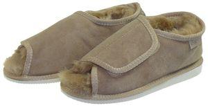 Extra dicke Lammfell Schuhe mit Klettverschluss – Bild 2
