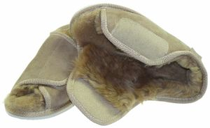 Extra dicke Lammfell Schuhe mit Klettverschluss – Bild 3