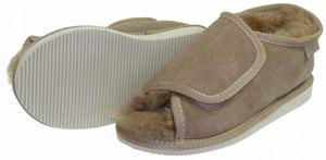 Extra dicke Lammfell Schuhe mit Klettverschluss – Bild 5