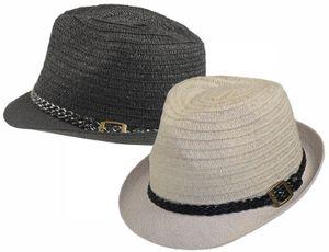 Trilby Hut mit geflochtenem Band in 2 Farben – Bild 1