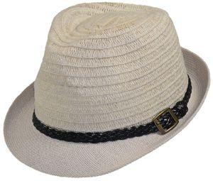 Trilby Hut mit geflochtenem Band in 2 Farben – Bild 2