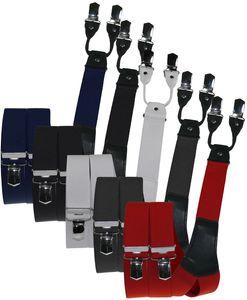 Rollenzug Hosenträger mit 4 Clip