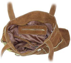 Große Umhängetasche aus echtem Leder im Hosenstyle – Bild 6