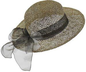 Eleganter Damenhut aus Seegras mit Stoffband – Bild 2