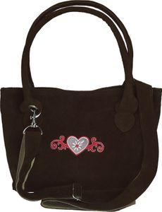 Handgefertigte Trachtentasche mit gesticktem Herz – Bild 6