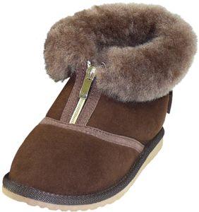Extra dicke halbhohe Lammfell Schuhe Reißverschluss  – Bild 5