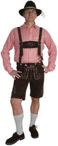 Kurze Hose im Trachtenstil mit Träger und Knopfleiste – Bild 1