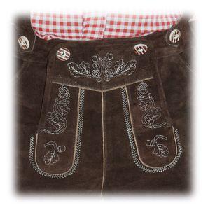 Kurze Hose im Trachtenstil mit Träger und Knopfleiste – Bild 3