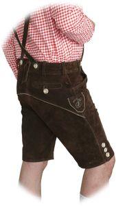 Kurze Hose im Trachtenstil mit Träger und Knopfleiste – Bild 5