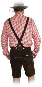 Kurze Hose im Trachtenstil mit Träger und Knopfleiste – Bild 2