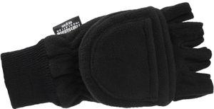 Fleece Handschuhe mit Thinsulate und Klappe Strickbund – Bild 2