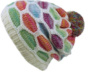 Strickmütze mit Bommel Multicolor – Bild 2