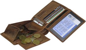 Geldbörse im Querformat aus hochwertigem Büffelleder mit Wildsau – Bild 4
