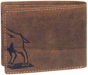 Geldbörse im Querformat aus hochwertigem Büffelleder mit Wildsau – Bild 3