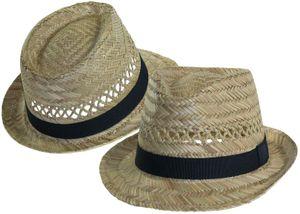 Trilby Hut aus Stroh
