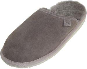Extra dicke Lammfell Pantoffeln für Herren Flache Form – Bild 2