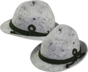 Hut mit Kordel in hellgrau