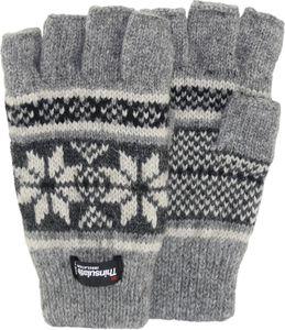 Halbfinger Handschuh  mit Norweger Muster Thinsulate für Damen – Bild 10