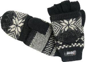 Handschuh mit Klappe und Norweger Muster Thinsulate für Damen