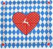 Bandana mit Bayrischem Herzen Bild 1