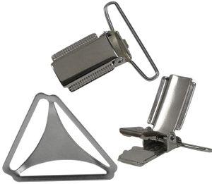Hosenträger mit 4 Clips Metallkreuz – Bild 5