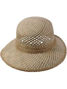 Ovaler Damenhut aus Stroh Mix