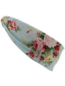 Damen Haarband oder Stirnband in 5 Farben mit Blumen – Bild 3