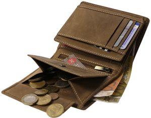 Hochformat Geldbörse in antikem Leder mit RFID Schutz – Bild 18